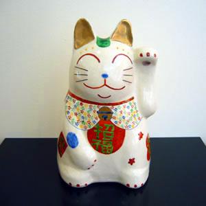笠間焼きの招き猫